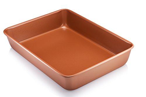 Gotham Steel Bakeware - Nonstick Copper 9-Inch x 13-Inch Bak