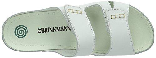 Dr. Brinkmann Dr. Brinkmann Damen Tiefbett - Zapatillas de estar por casa con talón abierto Mujer Blanco