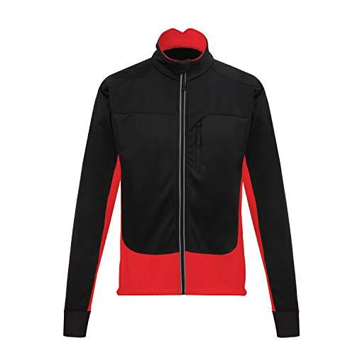 Men's Thermal Cycling Jersey Long Sleeve Snow Water Reflective Windproof Firewall Winter Biking Jacket (M, RD3) ()