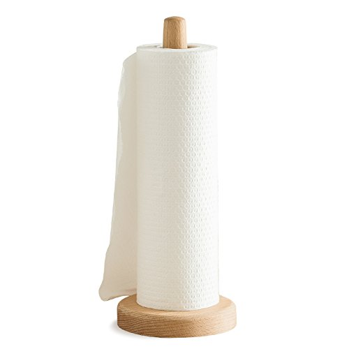 ASSR ASSR Wooden Standing Paper Towel Holder, Wooden Reel Tissue Holder Rack Bamboo Paper Towel Stand for Kitchen Living Bedroom Fashion Home Decor