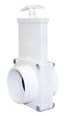 "Valterra 4304 PVC Gate Valve, White, 3"" MPT from Valterra Products"