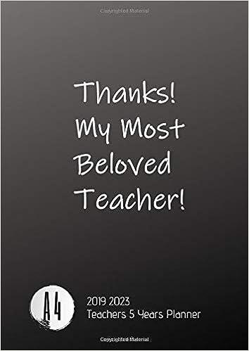 Amazon.com: 2019-2023 Five Year Planner A4 Teachers Goals ...