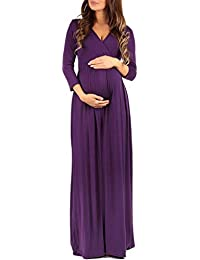 womens wraped ruched maternity dress made in usa - Christmas Maternity Dresses
