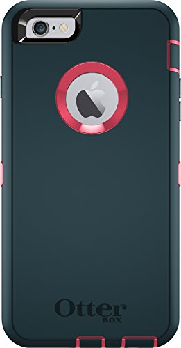 OtterBox Defender Series Case for iPhone 6s Plus & iPhone 6 Plus (ONLY) - (Case Only - Holster Not Included) Non-Retail Packaging - Blaze Pink/Dark Jade
