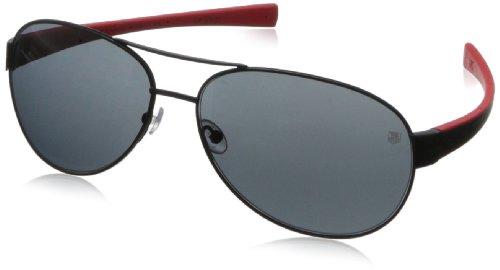 Tag Heuer Lrs25611064 Aviator Sunglasses - Matt Black & B...