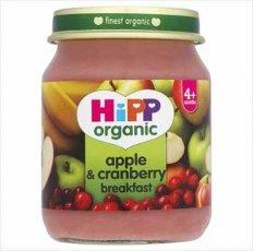 Hipp 4 Month Organic Apple & Cranberry Breakfast 125g