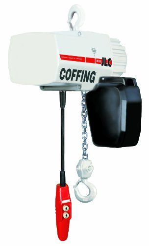 Coffing JLC Series Single Speed Electric Chain Hoist with Hook Mounted, 250 lbs Capacity, 15' Lift Height, 32 fpm Lift Speed, 1/4HP, 575V/60Hz