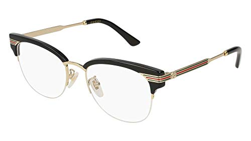 Gucci GG 0201O 001 Black Plastic Eyeglasses 50mm