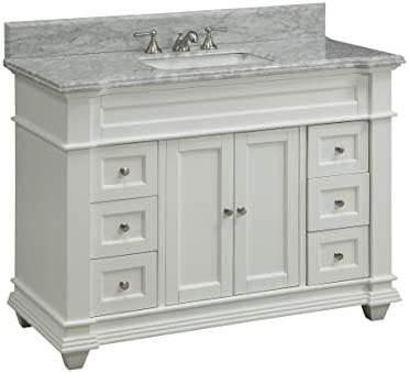 48″ Kerianne Bathroom Sink Vanity Cabinet Model ZK-1084 Carrara/White