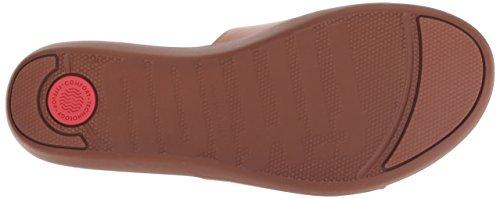 Marron caramel Sola Fitflop 098 Femme Bout Slides leather Sandales Ouvert 81xCq0