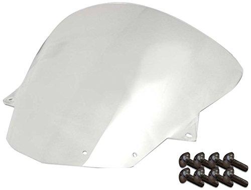 (Sportbike Windscreens ADKW-412C Clear Windscreen (Kawasaki Zx10 (08-10) Zx-6R (09-14) With Silver screw kit), 2 Pack)
