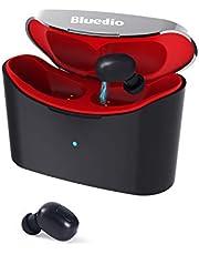 Bluedio T-Elf GT Audífonos Inalámbricos Verdaderos Auriculares Bluetooth 5.0 con Micrófono Auriculares Deportivos Inalámbricos en la Oreja para iOS y Android con una Caja de Carga Portátil de 650 mAh
