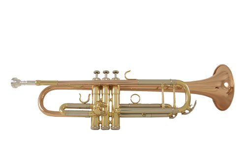 LJ Hutchen Bb Trumpet (Rose Brass Model) with Case - 2 Year Warranty