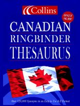 Collins Canadian Ringbinder Thesaurus