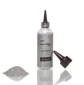 Glimmer Body Art Glitter Tattoo Silver Body Glitter Refill