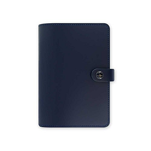 Filofax The Original Personal Size Leather Organizer Agenda Diary Navy 2016 Calendar with DiLoro Jot Pad Refill 022384