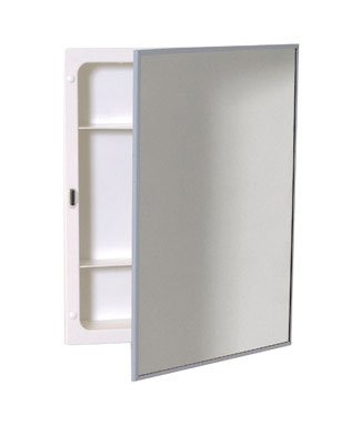 (Zenith Products X311 Stainless Steel Frame Swing Door Medicine Cabinet, Surface or Recess Mount, 16.13