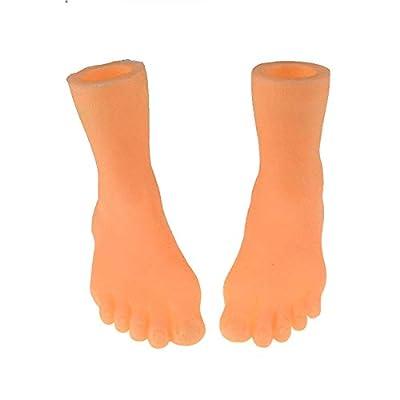 Hapshop Screepy Halloween Mini Finger Feet Tiny Left Right Feet for Game Party Costume: Garden & Outdoor