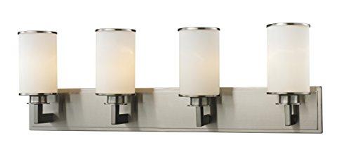 (Z-Lite 412-4V 4 Light Vanity, Brushed Nickel )