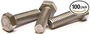 Hex Tap Bolt 18-8 Stainless Steel 3//8-16 x 3 Qty-25