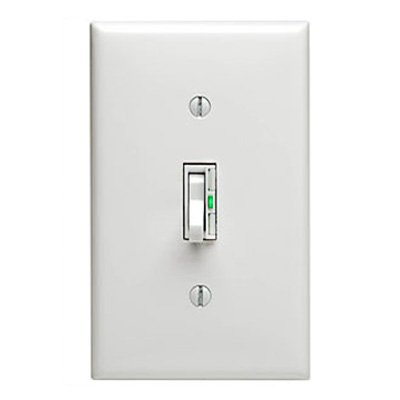 Leviton TGI10-1LW, ToggleTouch Preset Digital 1000W Incandescent Dimmer, Single Pole and 3-Way, White