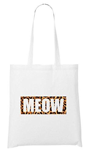 Meow Leo Bag White