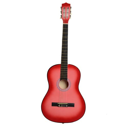 38'' Beginner Classical Guitar Starter Package Student Guitar With Gig Bag,Strap and Pick,Pink by OASIS FOX