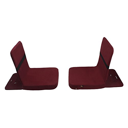 Friends Of Meditation Back Jack Meditation and Yoga Chair (18 X 18 Inch) (Pack of 2 BJ Maroon)