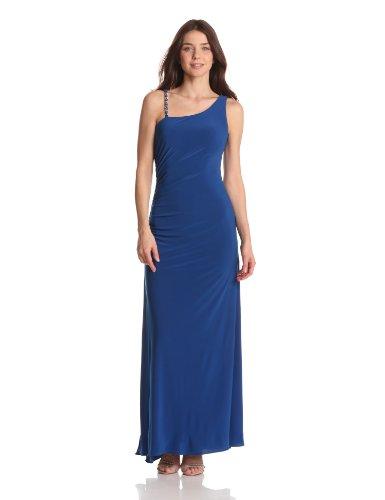 Hailey by Adrianna Papell Women's Dresses Jersey Cutout Back Dress, Cobalt, (Hailey Cut Out)