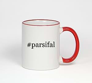 #parsifal - Funny Hashtag 11oz Red Handle Coffee Mug Cup