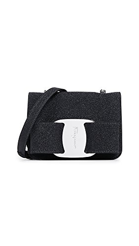 Bow Ferragamo Bag Women's Flap Vara Salvatore Mini Nero dSpqwpI
