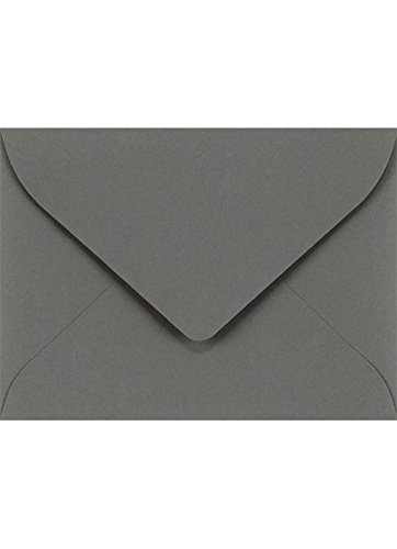 #17 Mini Gift Card Envelopes (2 11/16 x 3 11/16) - Smoke (50 Qty.) | Perfect for the Holidays, Holding Place Cards, Gift Cards, Notes, and Flower Arrangement Cards -
