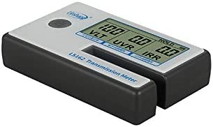Tint Solar Film Car Transmission Meter Filmed Glass Tester UV IR Rejection Meter Spectrum Tester IR 950nm UV 365nm VR 550nm Portable Solar Tester Meter