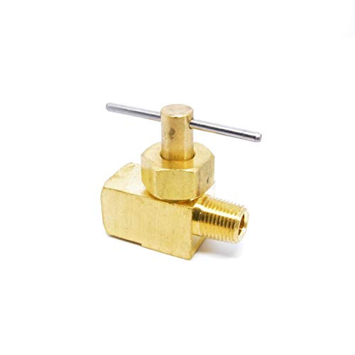 YINGJUN Valves Needle Valve Tube OD 8 Mm Nickel-Plated Brass Plug Needle Valve NV1-8