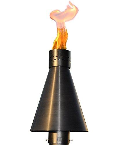 HPC Match Lit Tiki Torch, Head Only, Natural Gas, Black