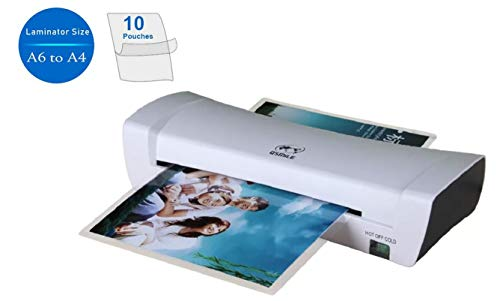 A4 Thermal Laminator, Hot and Cold 9 Inch Wide Laminator Machine with 2 Roller System, Jam-Release Switch, 2-4min Fast Warm-up, High Laminating Speed, Include 10 Sheet A4 Size Pouches