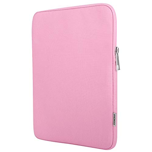 MoKo Sleeve Bag for 7-8 Inch Amazon Tablet, Polyester Pouch Case Fits All-New Fire HD 8, Fire 7 2017/2019, Fire 7/Fire HD 8 Kids Edition 2017, Kindle Oasis 2017, Kindle (8th Gen, 2016) - Pink
