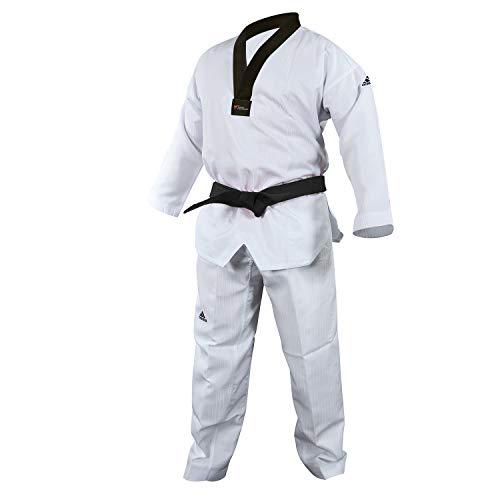 adidas Taekwondo Dobok, Black-V, WTF Approved (00/130cm)