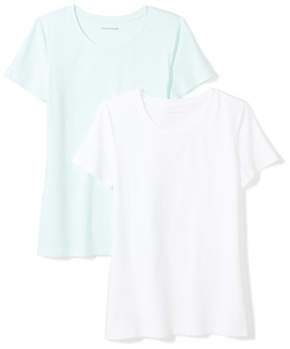 Amazon Essentials Women's 2-Pack Short-Sleeve Crewneck Solid T-Shirt