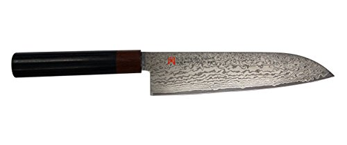 SETO Japanese Chef Knives: Damascus Forged Steel from World Famous Seki, Japan (I-5 Pro: 180m/ m: SANTOKU KNIFE)