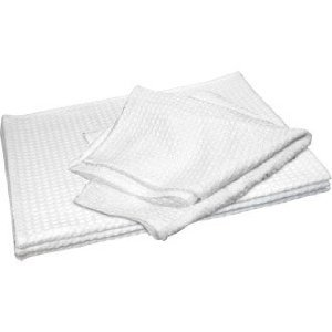 Pack Of 10 Tea Towels Cloths White Honeycomb Weave