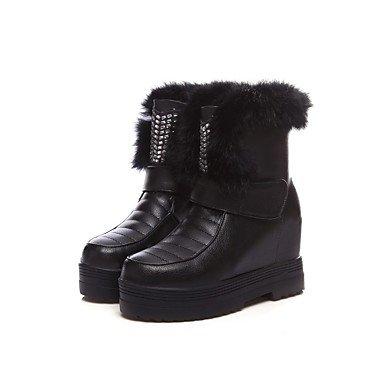 RTRY Zapatos De Mujer Invierno Materiales Personalizados Fur Pelusas Forro Forro Botas De Nieve Botas De Montar Botas De Moda Botas De Combate Bootie Soles De Luz US7.5 / EU38 / UK5.5 / CN38