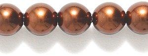Imitation Brown Pearl (Preciosa Ornela Imitation Round Glass Pearl, 6-mm, Dark Brown, 100-Pack)
