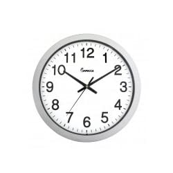 Impecca WCW144S 14 Inch Sweep Movement Wall Clock Silver Frame