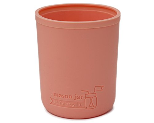 (MJL Regular Mouth Half Pint Silicone Sleeve for Mason Jars (Light Coral))