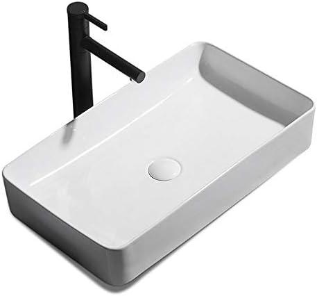 洗面ボール 内閣洗面所洗面化粧台については、モダンなバスルーム長方形の上白船バニティシンク 洗面器 (Color : White, Size : 60x35x11cm)