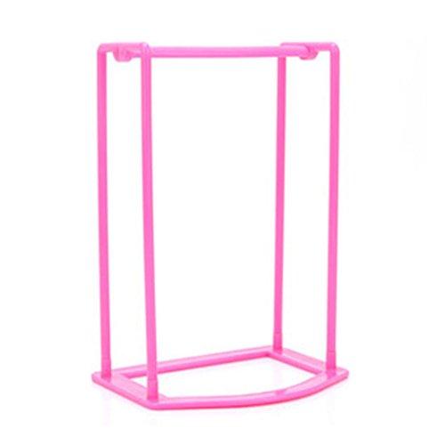 LtrottedJ Plastic Hangers Creative Finishing Frame Hanger ,Companion Storage Rack (Hot pink)
