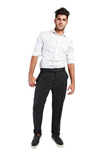 Republica1946 - pantalón chino para los hombres, 4 bolsillos de la entrepierna - RPP-ENEA Gris
