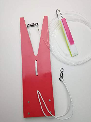 特異な比較的印をつける鳥山漁具★トローリング★アクリルレッド潜航ツバメ板(小)1枚テンテン1個セット!