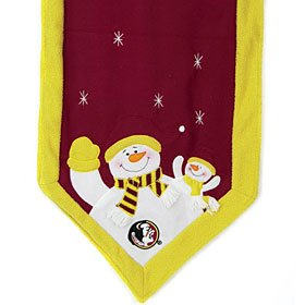 Florida State Seminoles Snowman Table Runner